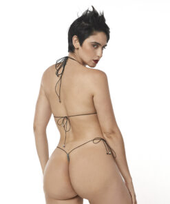 Sexy Camo String Micro Bikini by OH LOLA SWIMWEAR - Rear View
