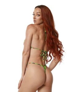 Trick or Treat Micro Bikini by OH LOLA SWIMWEAR - Side Adjustable V-String