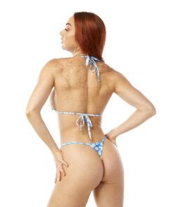 Daisy Micro Bikini by OH LOLA SWIMWEAR - Side Adjustable V-String Bottom