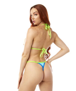 Ocean Drive Micro Bikini by OH LOLA SWIMWEAR - Side Adjustable V-String