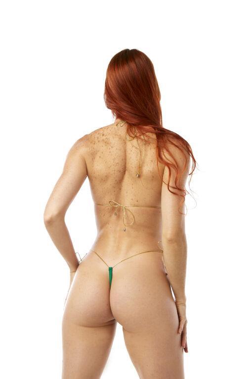 Lucky String Micro Bikini by OH LOLA SWIMWEAR - Side Tied G-String Bottom