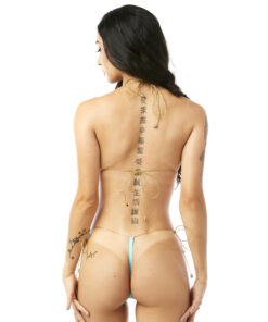 Bimini String Micro Bikini by OH LOLA SWIMWEAR - Side Tied G-String Bottom