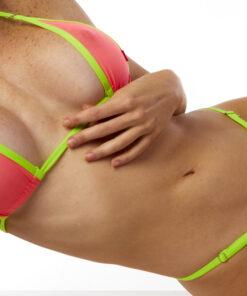 Tasty Guava Micro Bikini by OH LOLA SWIMWEAR
