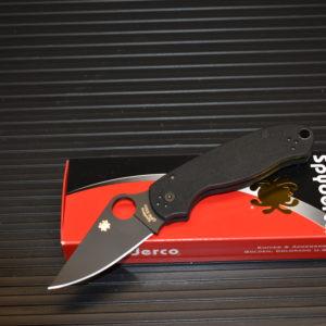 Spyderco Para 3 Black Black C223GPBK - LANTAC Knives