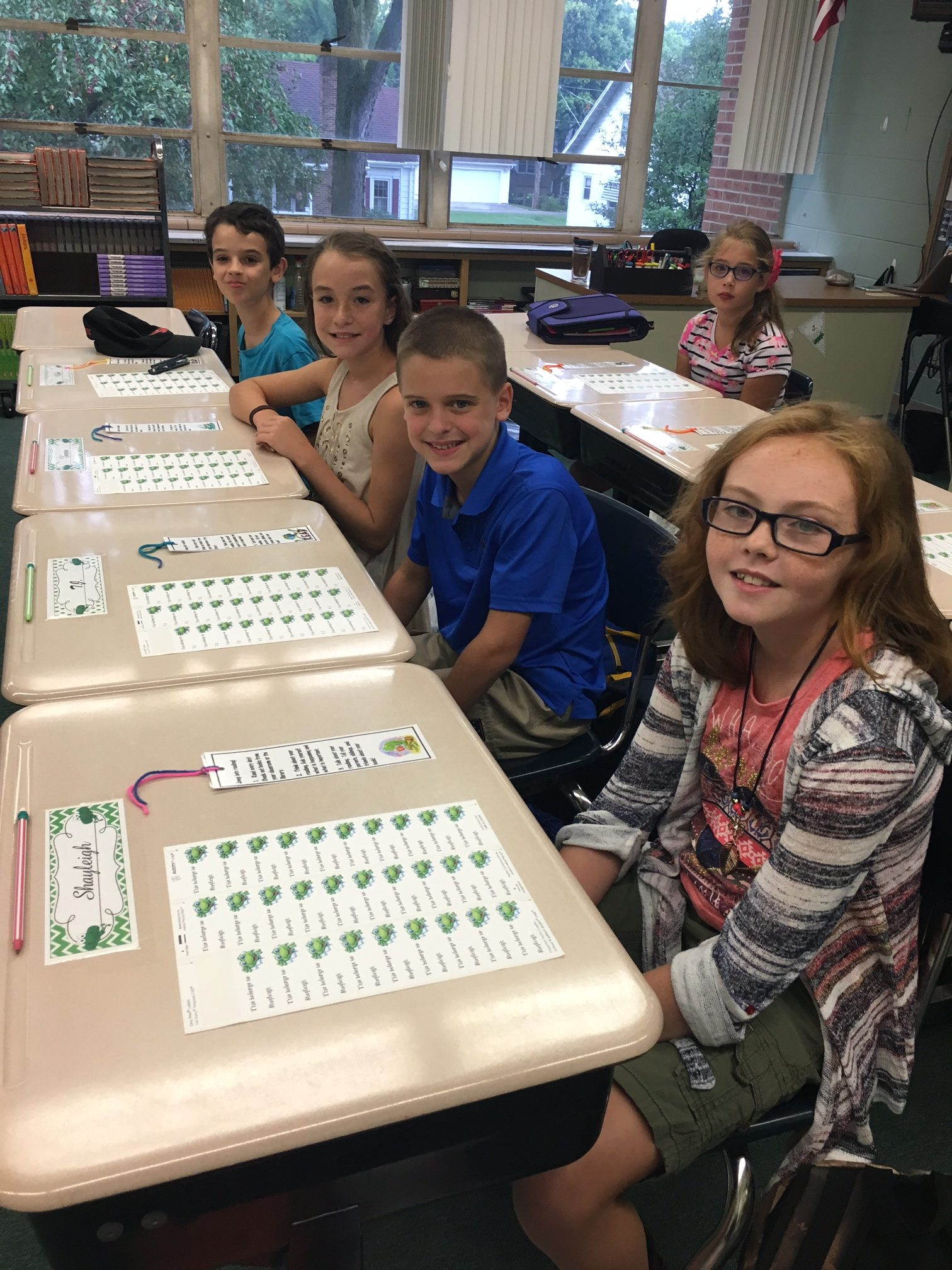 Fifth Graders Ready to Learn