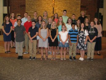 8th Grade at the commissioning Mass