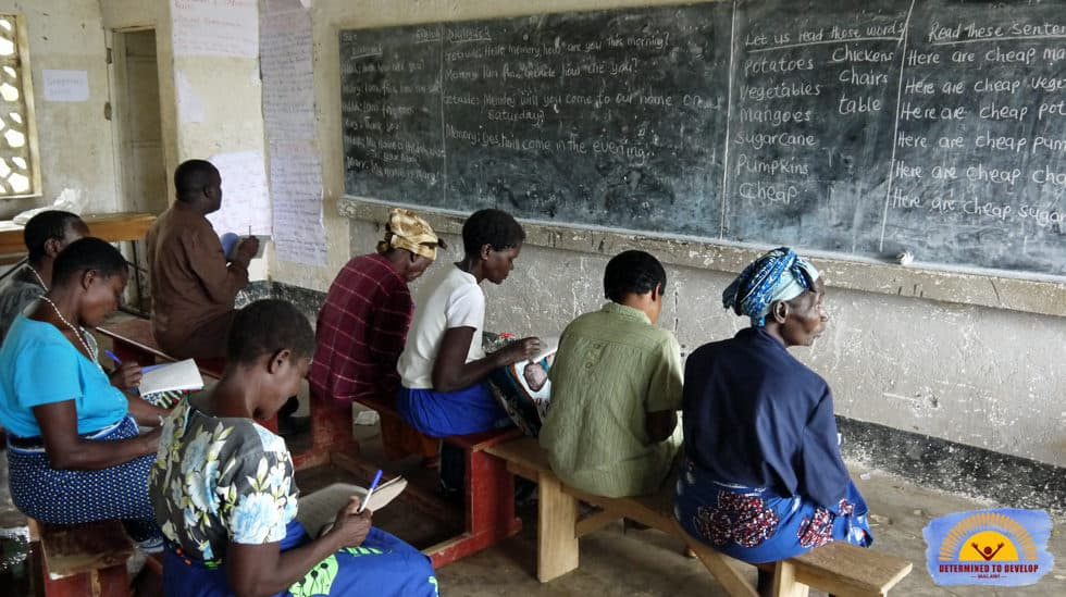 Determined to Develop Malawi Adult Literacy 2