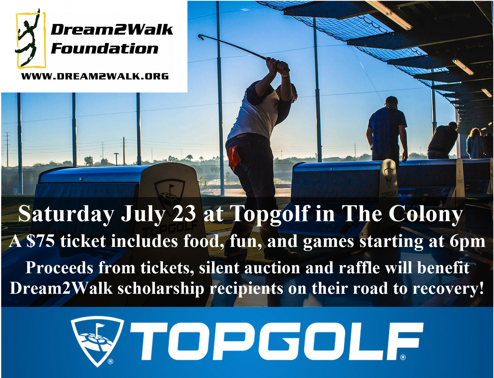 Top Golf The Colony 2016 Flyer Quarter Size Single 6-25-16