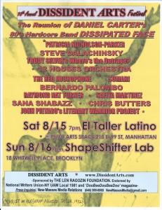 DISSIDENT ARTS FESTIVAL 2015 POSTER