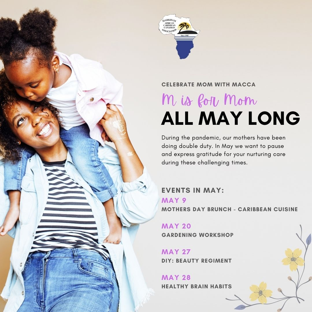 M is for Mom All May Long Events Poster