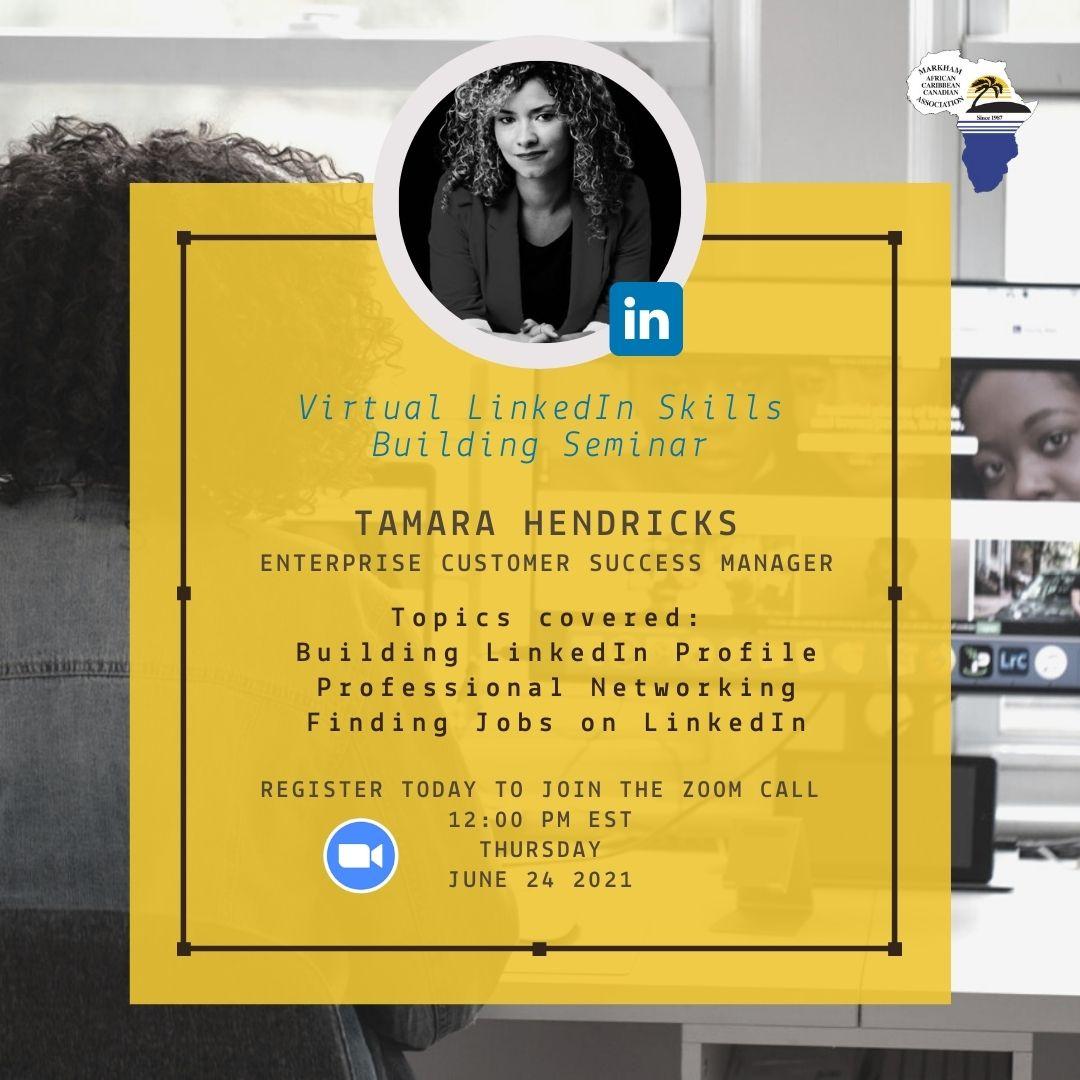 Poster for Tamara Hendricks Live Seminar Event