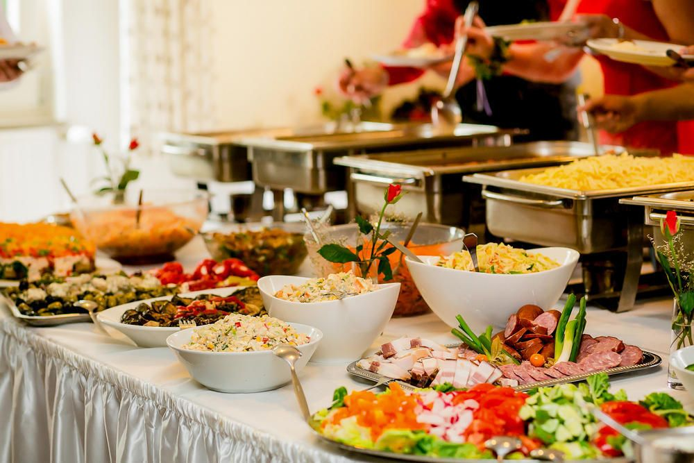 Silver Spoon's party menu with a variety of dishes