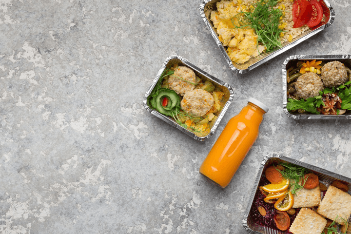 Silver Spoon's takeout menu in containers