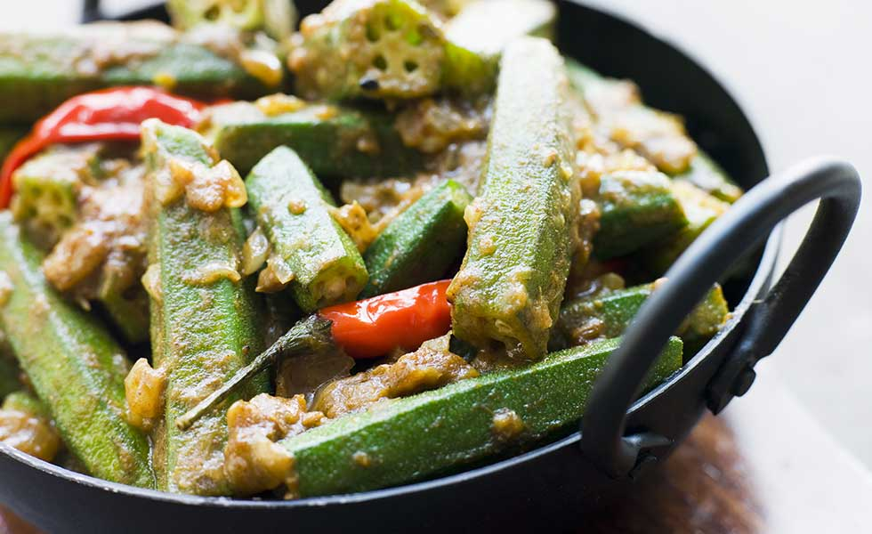 Silver Spoon's special vegetable known as Okra.
