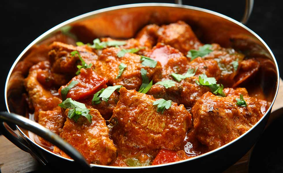 Lamb meat curry cooked finely with spices & onions