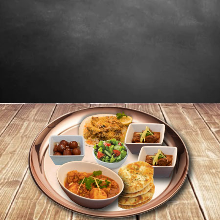 Silver Spoon's Thali with a variety of dishes