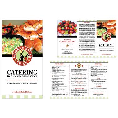 Chicken Salad Chick Catering Menu Design