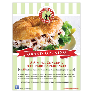 Chicken Salad Chick Grand Opening Ad