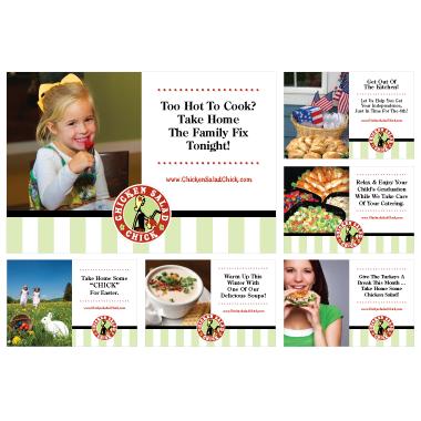 Chicken Salad Chick Napkin Holder Card Designs