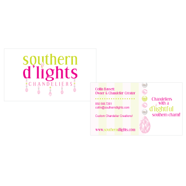 southern d'lights business card design