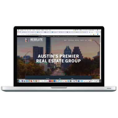 resolute properties austin website design