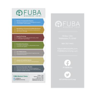 FUBA Workers' Comp Rack Card Design