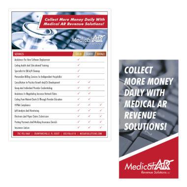 Medical AR Revenue Solutions Flyer Designs