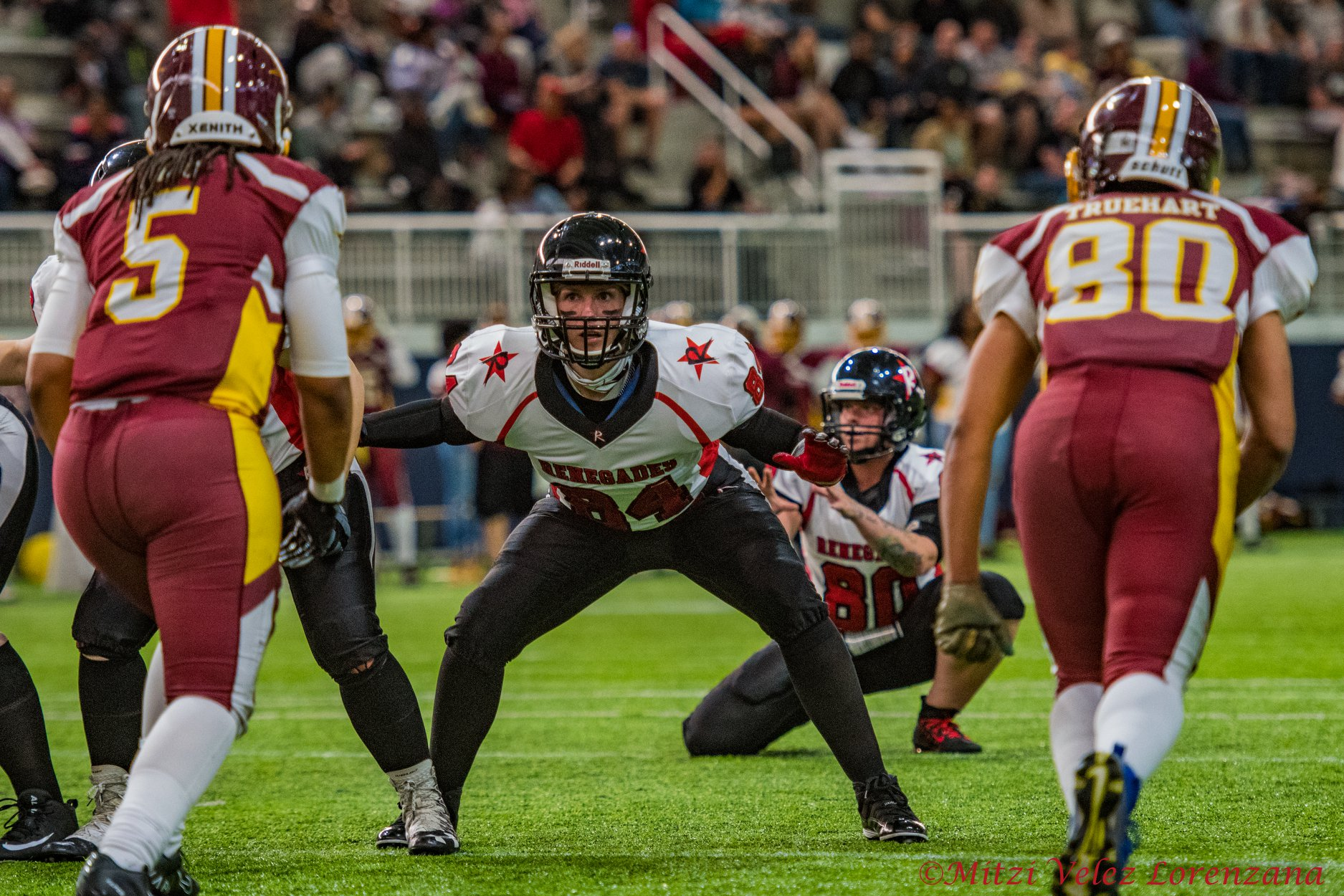 Boston Renegades Offensive Linewoman Maureen Lemay #84