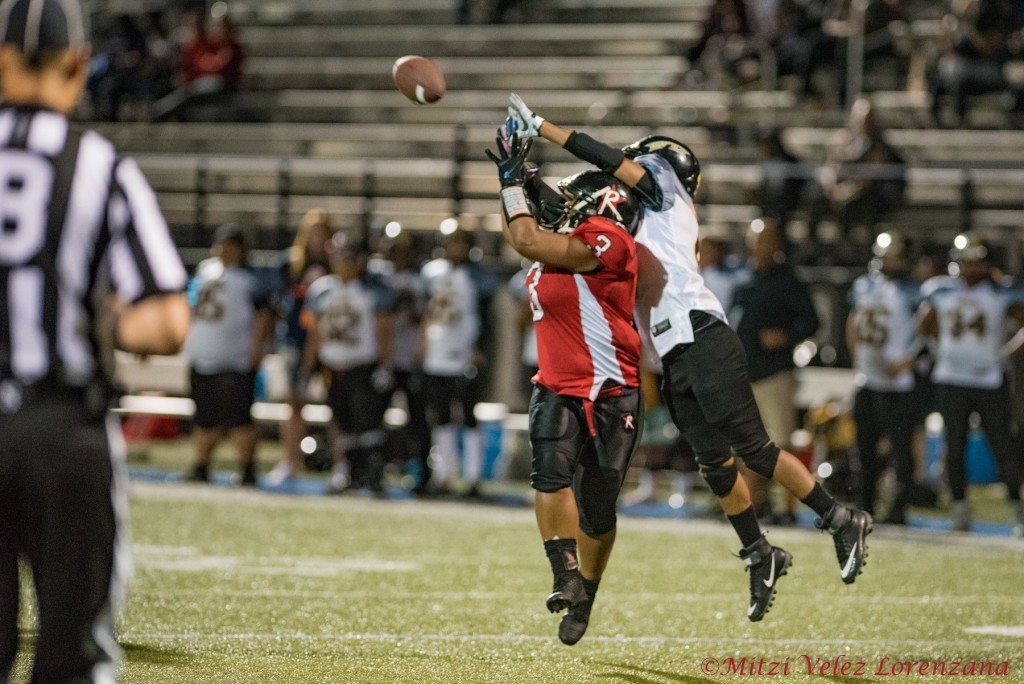 Stephanie Pascual catches a pass in the 2019 championship game. The Boston Renegades defeated the Cali War 52-24 in July 2019.