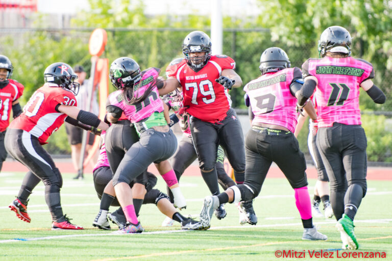 Boston Renegades All-American Offensive Tackle Rese Woodfine