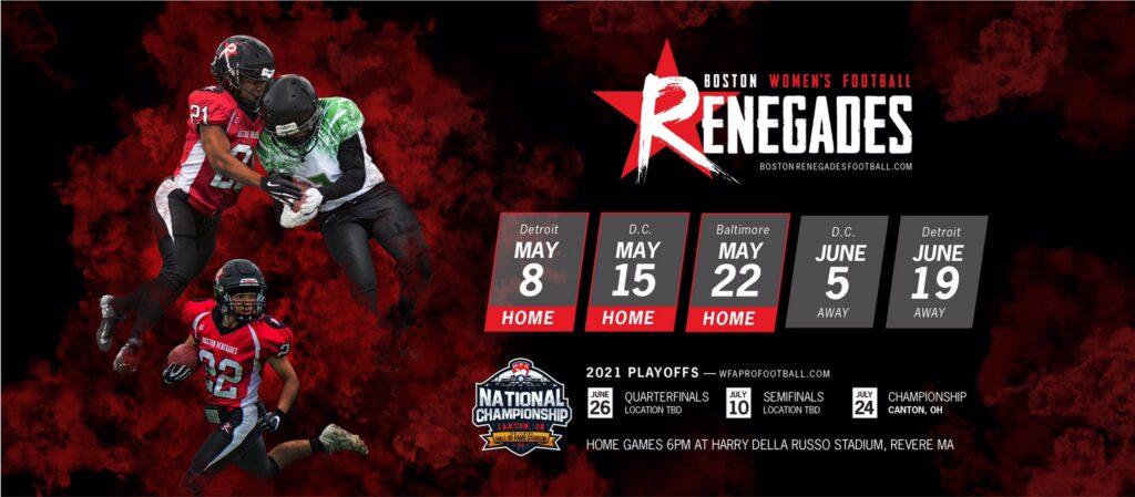 2021 Boston Renegades Season Schedule