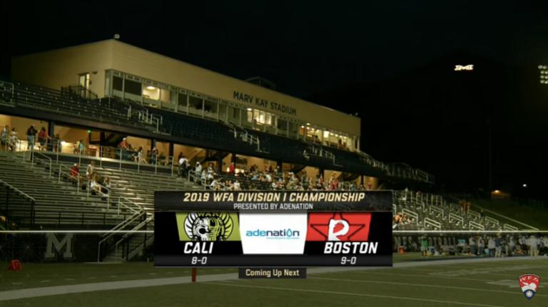 2019 WFA National Championship screenshot