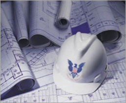 United Engineering Services American Engineering Products Hard Hat and Plans