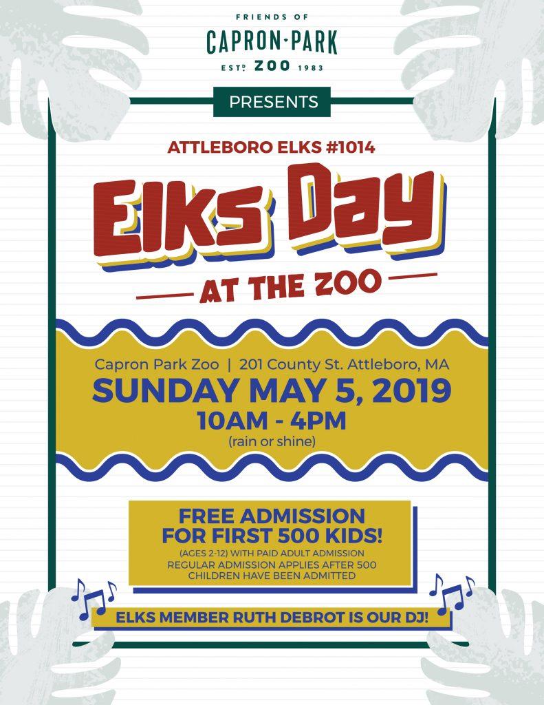 ELKSDAY at Capron Park Zoo