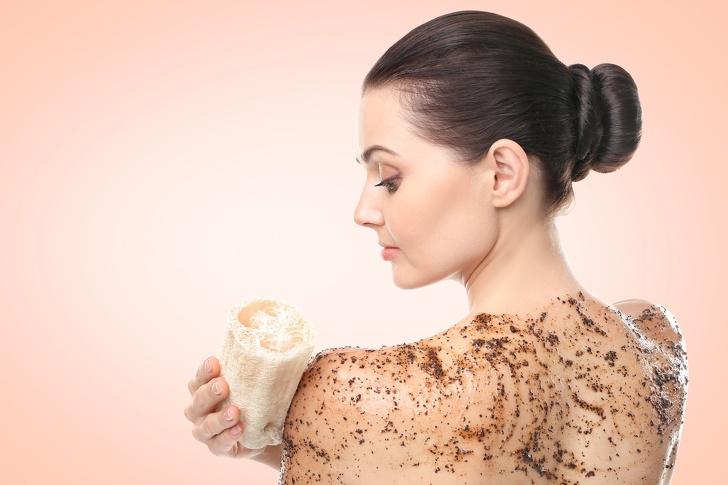 Café como exfoliante
