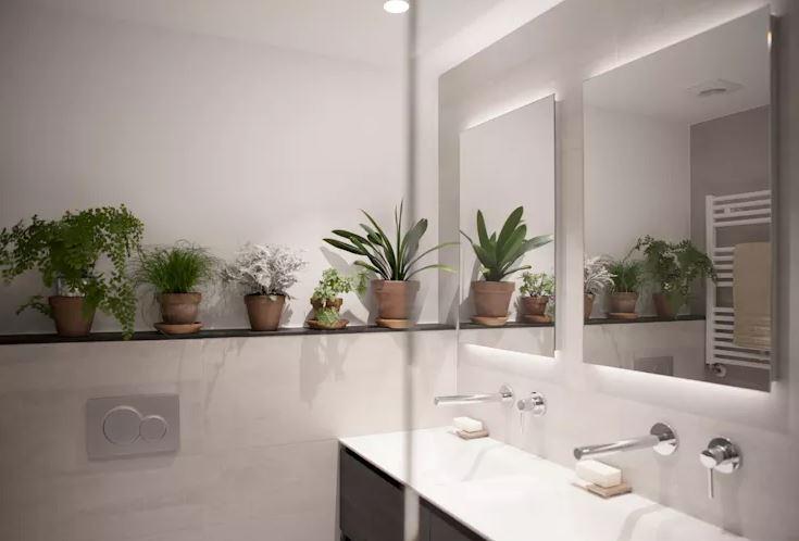 Utiliza plantas en el baño para un diseño natural