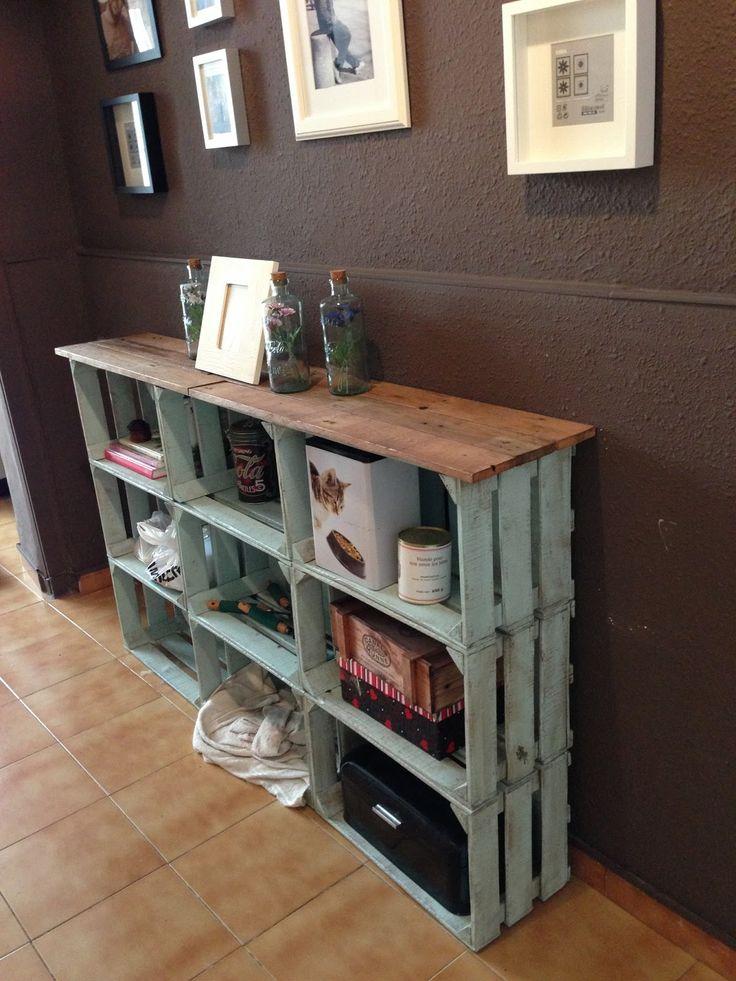 Acomodador vintage de madera en tu casa