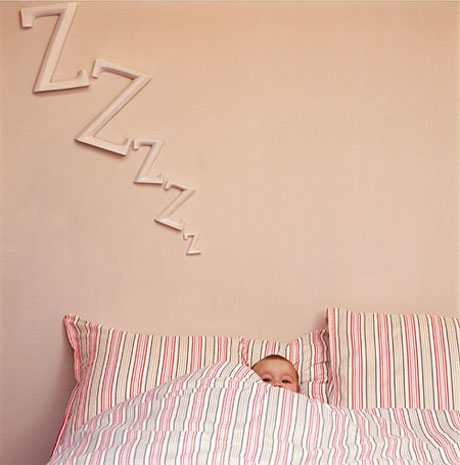 Letras de madera para la habitación del bebé