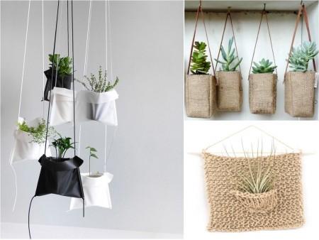 Bolsas como colgantes para plantas