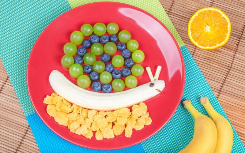 Caracol frutal con cereal