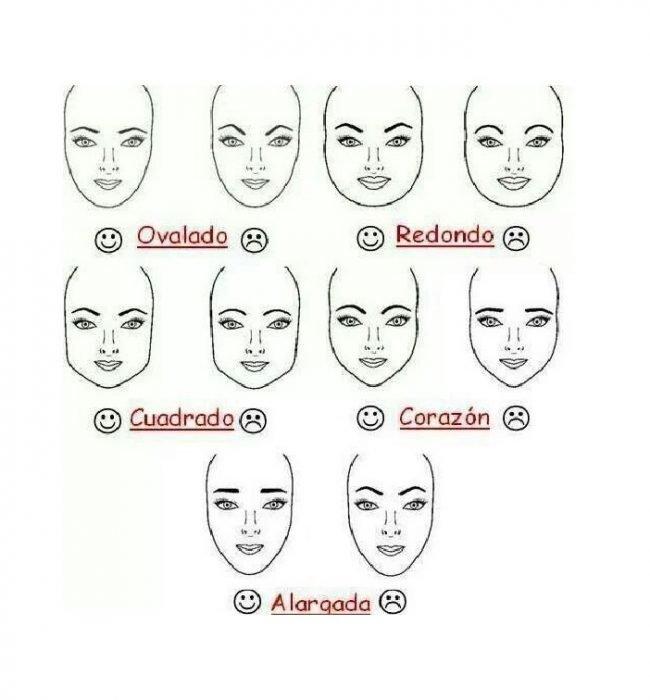 El diseño de tus cejas varía dependiendo de la forma de tu rostro