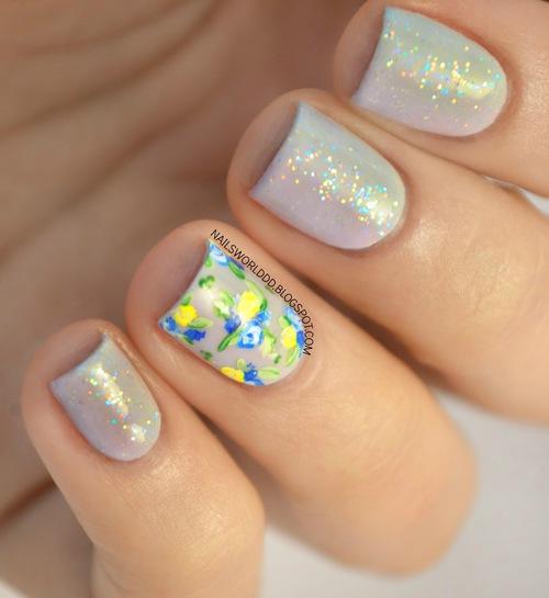 Flores y glitter