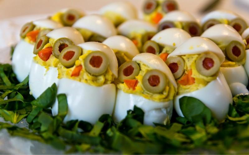 Huevos timidos
