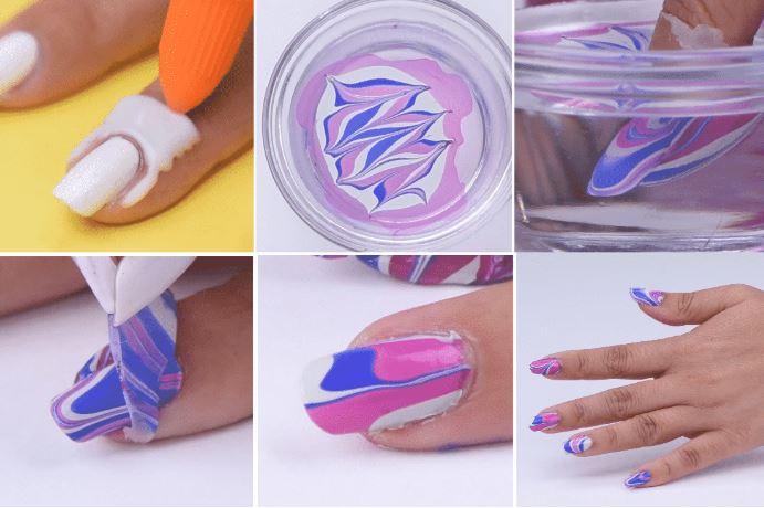 Pega blanca para pintar las uñas
