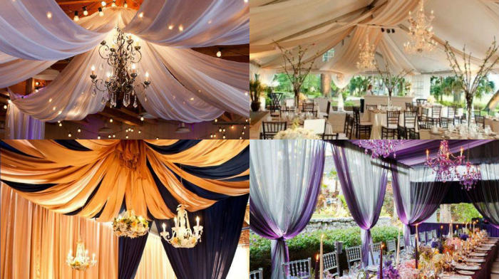 Decoración de telas en las bodas