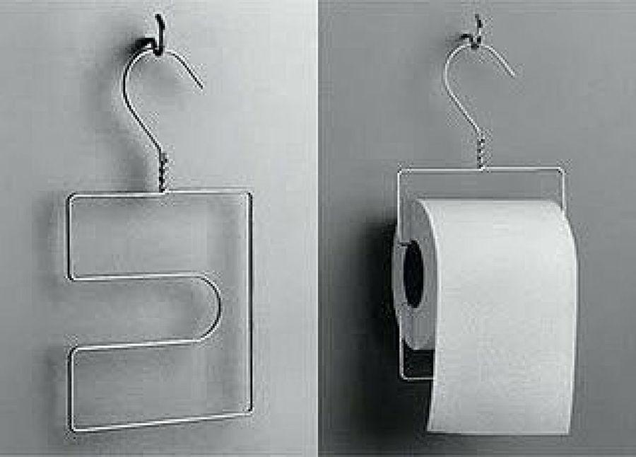 Ganchos de ropa para colgar el papel higiénico