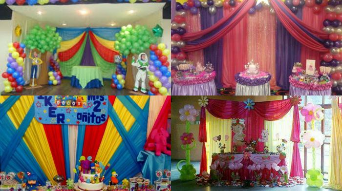 No sabes cómo decorar una fiesta infantil con telas