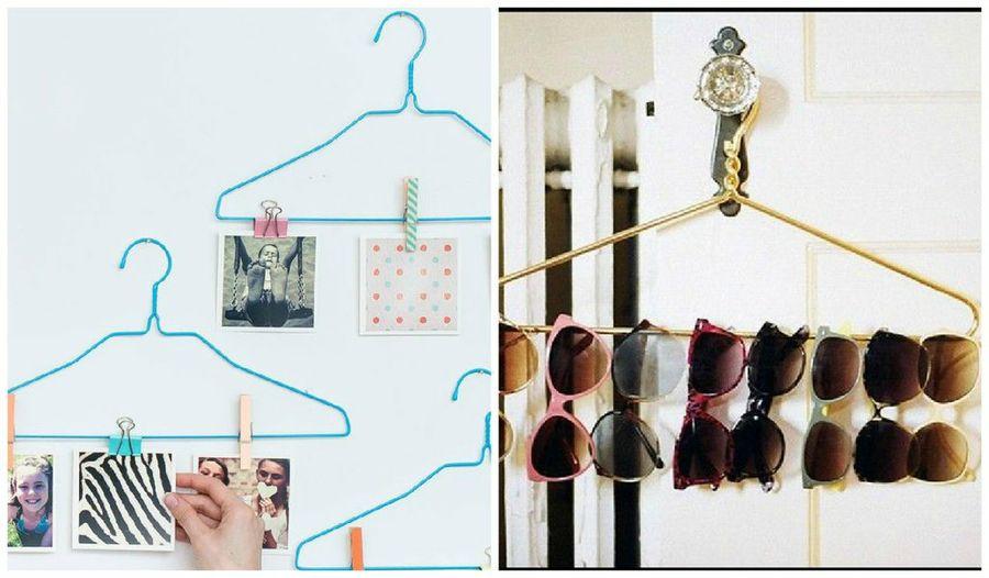 Utiliza los ganchos de ropa para almacenar tus lentes
