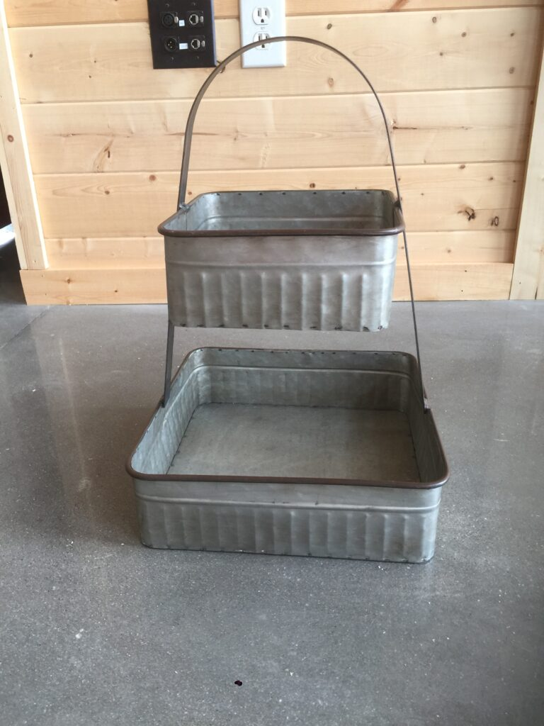 2 Stacked Rectangle Bins: $12