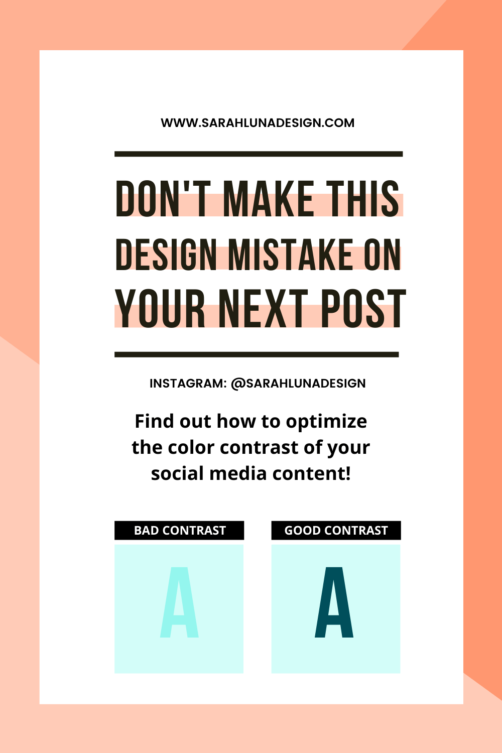 Color Contrast Pinterest Image Sarah Luna Design